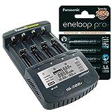 AccuPower IQ328+ENELOOP-Pro Li-Ion/NI-MH/NI-CD Ladegerät IQ328+ inkl. 4X Eneloop Pro XX AA