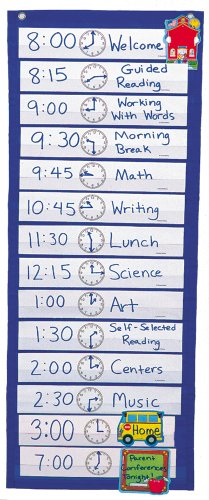 Scheduling Pocket Chart [With 16 Scheduling Cards]
