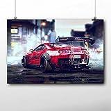 shiyusheng Super Car Poster Supra Auto Motor Escape Need Speed   Impresión en Lienzo Pintura enmarcada 24x36 Enmarcado