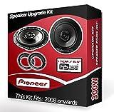 Ford Fiesta Front Door Speakers Pioneer car speakers + adapter rings pods 240W