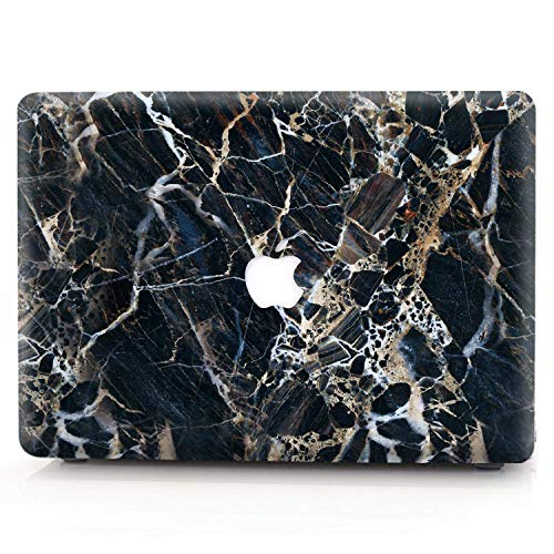 RQTX MacBook Pro 15 Retina Hülle Hartschalen Case Cover [Marble Series] für MacBook Pro 15 Zoll mit Retina Display (Modell: A1398) - Schwarzer Marmor LDC 23 Ldc Display