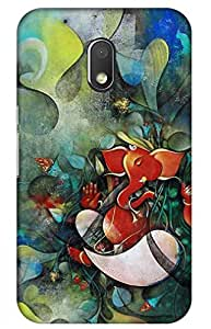 iessential ganesh Designer Printed Back Case Cover for Moto G Play, 4th Gen
