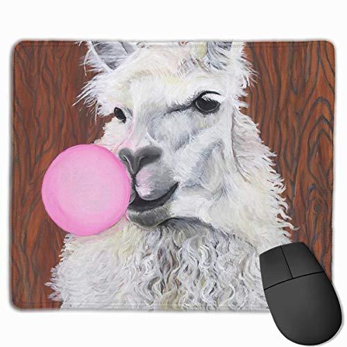 Luancrop Gaming Mouse Pad Bubblegum Dolly Das Lama Rechteck rutschfeste Gummi-Mauspads Mousepad Matte für Computer Laptop Büro-Zubehör Schreibtisch Dekor (Schreibtisch Dolly)