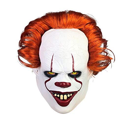 Ecisi Halloween Gruselige Stephen Maske Adult Scary Clown Cosplay Requisiten Joker Maske Scary Clown Maske Kostüm Party Latex Scary Clown Maske Horrific Demon Cosplay Kostüm Masken (Demon Killer Kostüm)