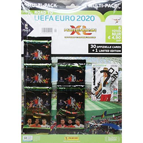 Panini 504909 Sammelkarten Road to Euro 2020, 5 Booster und Limitierte Karte, bunt -