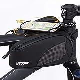 VUP Handyhalterung Fahrrad Rahmentasche,Fahrradtasche Rahmentaschen Geeignet für Smartphones von 4,0-6,0 Zoll