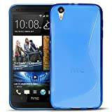 HTC Desire Eye Silikon Hülle Case in Blau Cover Desire Eye