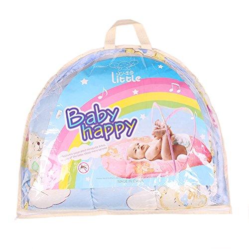 ANPI 0-2 Jahre Baby Tragbare Faltende Reisebett, Moskitonetzzelt mit Kissen, Blau