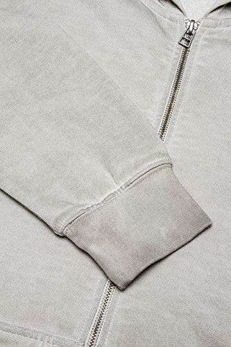 Kitaro Sweat Kapuzen Jacke in silbergrau Beige