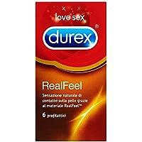 Durex Real Feel Preservativi, 6 Pezzi
