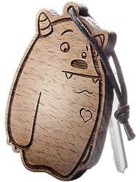 "Schlüsselanhänger aus Holz, Figur ""Kuschelmonster"""
