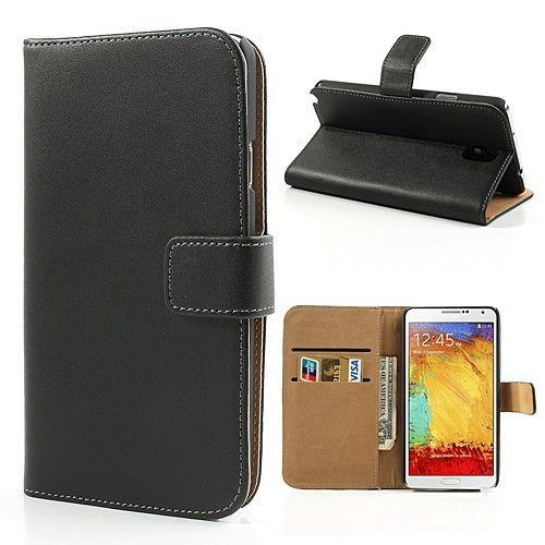 samsung-galaxy-note-3-genuine-leather-wallet-case-inc-business-card-holders-2-clear-screen-protector