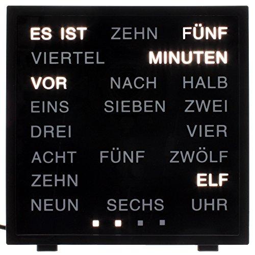 LED Uhr WITH WORDS mit deutscher Wort-Anzeige