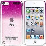 Housse Etui Coque Rigide Snap-in Protection Case Pour APPLE iPod 5 gen Touch, Rose vif transparent goutte d'eau