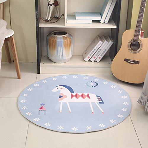 &Dekorativer Teppich Runde Bereich Teppich, Cartoon Kinder Decke Wohnzimmer Schlafzimmer Nachttisch Kaffee Tisch Zimmer Computer Stuhl Matten Geometrischer teppich ( Farbe : E , größe : Round-120cm ) -