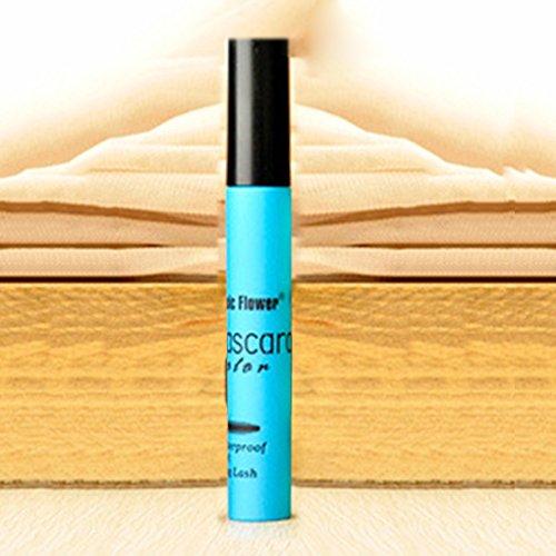 Lidahaotin Frauen Mädchen Bunte Waterproof Mascara Fan Wimper 3D-Faser-Mascara weibliche Augen Make-up-Tool Blau