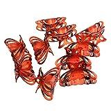 Generic 10pcs Griffe Pinces à Cheveux Forme de Papillon Accessoire Cheveux pour Femmes - Roux