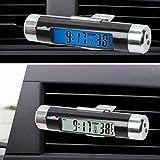 Mioloe Digital LED Reloj de Coche Termómetro Electrónico Tiempo Aire Acondicionado Vent Retroiluminación Temperatura Medidor de Voltaje