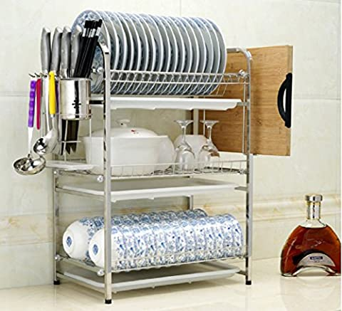 Hutch Sink Drainboard,Rack, Kitchen Shelf Pool, Knife,Dishes, Storage Rack