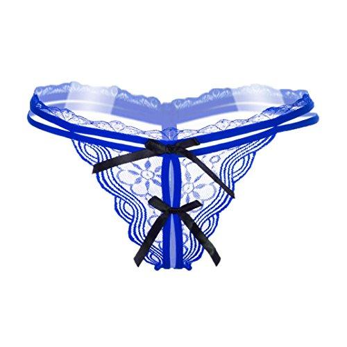 Thong pants VENMO Unterwäsche Frauen Höschen Lace Transparente Slips Panty Nahtlose Schlüpfer Blue
