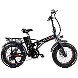 """Fat-Bike Bicicletta Elettrica Pieghevole a Pedalata Assistita 20"""" 500W DME Bike V2.4 Vulcano Nera"""