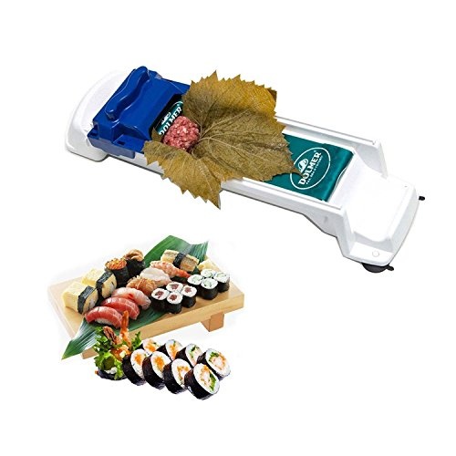 Aolvo Dolma-Roller, Sushi-Roller, gefüllte Wein- und Kohlblätter, Rollmaschine, Fleisch und Gemüse, Küchenwerkzeug, Sushi-Maker für Anfänger und Kinder (blau) - Wein-maschine