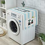 Panno di rivestimento per lavatrice, arrotolabile, motivo: cactus, impermeabile e antipolvere, multi-funzione, per frigorifero, con tasche laterali (4dimensioni disponibili), Style 3, 50 * 140cm