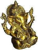 Aone Indien Große Ganesh Idol Figur Elefant Gott Statue Visitenkarte Antik Finish Skulptur–Messing Ganesha + Cash Umschlag (10Stück)