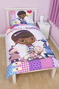 Disney Doc McStuffins Patch Single Panel Duvet Set, Multi-Colour