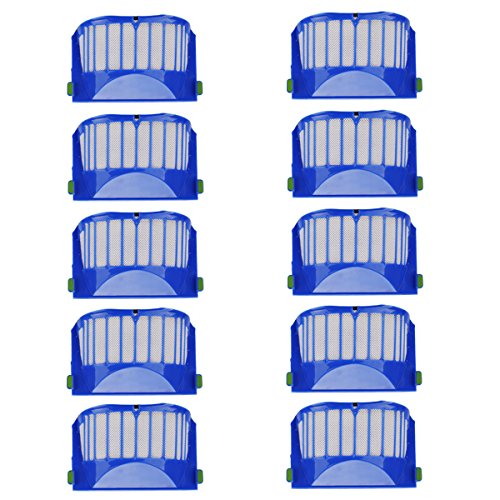 [10 pezzi] POWER-XWT Filtro Accessori di Ricambio per IRobot Roomba 600 Series 605 620 630 632 650 651 660 Kit di Ricambio