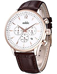 Addic His Majesty's Pride Rose Gold Chronometer Brown Watch for Boys & Men's.