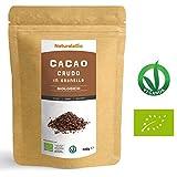 Granella di Cacao Crudo Biologico da 900g | 100% Bio, Naturale e Puro | Prodotto in Perù dalla Pianta Theobroma Cacao | Superfood Ricco di Antiossidanti, Minerali e Vitamine | NATURALEBIO