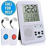 CAPMESSO Drahtlose Fernbedienung Krankenschwester-Alarmsystem Patientenanruf-Taste und Betreuer Persönlicher Pager 500 Meter Reichweite (LCD-Alarm)