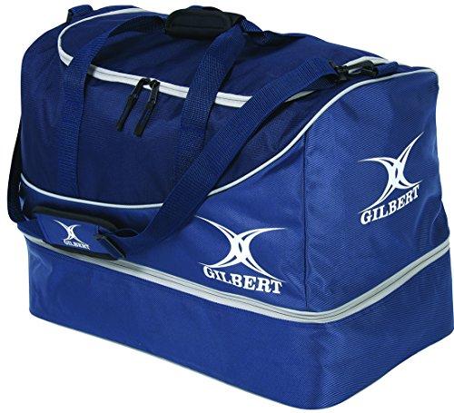 Gilbert Rugby Teamtasche, mit großem Hauptfach und stabilem Boden Blau - navy