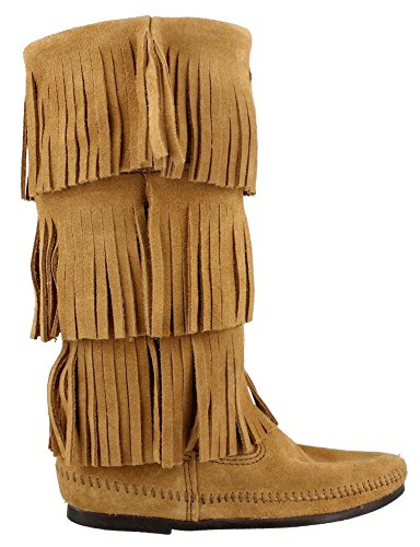 Minnetonka 1637t, Bottes Indiennes Femme Taupe