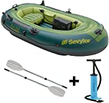 Sevylor Fishhunter FH 250 2 Personen Schlauchboot Set + Riemenpaar + Pumpe