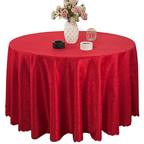 Binhee tovaglie modello di gloria di mattina festa di alto livello per matrimoni tovaglie colore puro tovaglie(diametro 300cm)