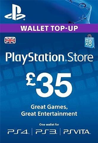 PlayStation PSN Card 35 GBP Wallet Top Up [PSN Download
