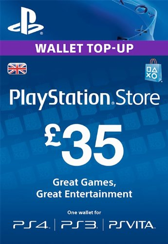 Compare PlayStation PSN Card 35 GBP Wallet Top Up | PSN Download Code - UK account prices