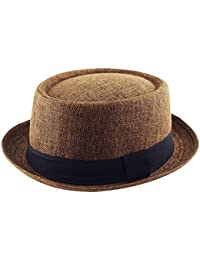 59ee3d6c6b038 Adult Pork Pie Trilby Fedora Jute Hessian Feel Hat Band Unisex (Breaking  Bad Heisenberg Style