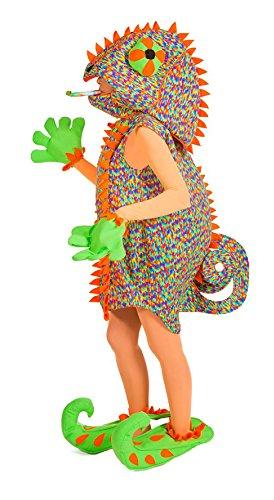 D's Nine Kostüm (Chamäleon Reptil Kostüm für Damen - Lustiges Kostüm für Karneval oder)