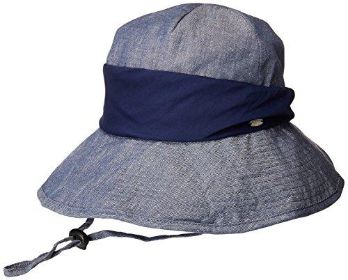 SIGGI Damen faltbarer Baumwolle Bucket Sonnenhut UPF 50+ mit Kinnriemen beige