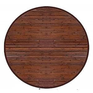 teppich aus bambus runde schokolade 140x140. Black Bedroom Furniture Sets. Home Design Ideas