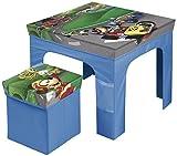 Arditex Set Klapptisch 50x 50x 40cm und Sitzsack/Cube Aufbewahrungsschuppen 25x 25x 25cm unter Lizenz Mickey Mouse, PP + Karton, 50x 50x 40cm
