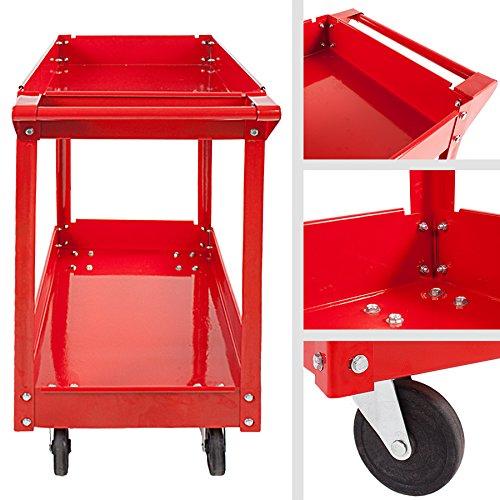 TecTake® 2 Etagen Werkstattwagen Werkzeugwagen Rollwagen Montagewagen Wagen Werkstatt - 5