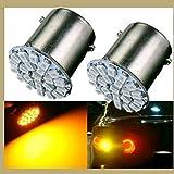 #4: EASY4BUY 4Pcs - 22 SMD LED Bike Amber Indicator Light Bulb Lamp