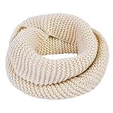 Vbiger Sciarpa Invernale Unisex Casual per Entrambi Gli Uomo e le Donne (Color crema)
