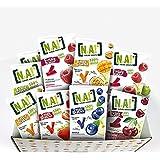 N.A! - Kit Sucré de 21 Sachets de Fruit Sticks framboise (x4), fraise (x3), myrtille (x4), pomme(x3), mangue/passion(x3), cer