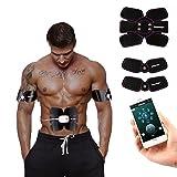Silaite ABS-Muskelstimulator, Trainingstoner, EMS-Trainer, wieder aufladbarer drahtloser Körper-Gymnastik-Zehnmaßeinheit, Diät, forAbdomen / Arm / Schulter / Ansatz / Taille / Rückseiten- / Schenkel / Schaft, Haus u. Büro, Eignung-Ausrüstung für Männer u. Frauen, mit iPone & Android-APP-Steuerung