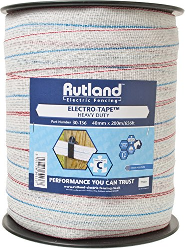 Rutland 30-136R Elektroband, 40 x 200 m, weiß